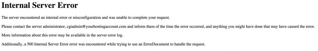 500 Server Error on wp-admin